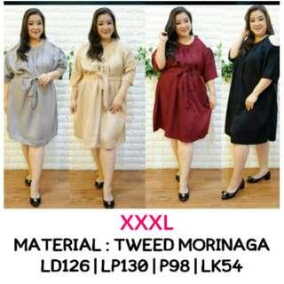 Dress Maroon Jumbo XXXL Dress Hitam Jumbo Dress Abu Jumbo Dress Cut Out Jumbo Dress Pesta Jumbo