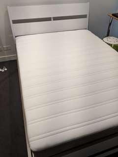IKEA HAMARVIK DOUBLE SIZED BED + IKEA TRYSIL BED FRAME