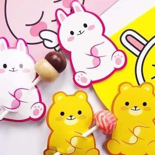 Lollipop decorative card