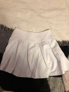 White Pleated Skirt in XS