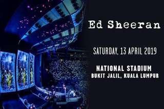 2tix [CAT3] Ed Sheeran 2019 LIVE in Kuala Lumpur!