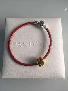 Pandora leather bracelet freeship
