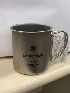 Snow peak titanium cup 450ml single layer