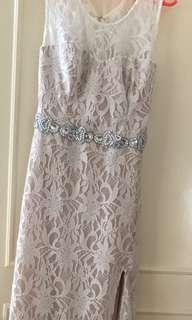 Elegant Laced White Gown