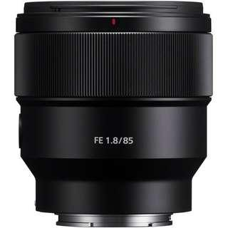 Sony 85mm f1.8 E mount