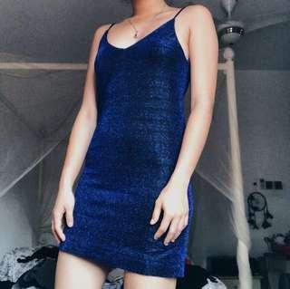 Monki - Glitter Mesh Dress