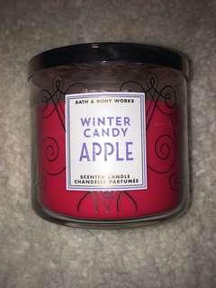 Winter Candy Apple 3 wick candle