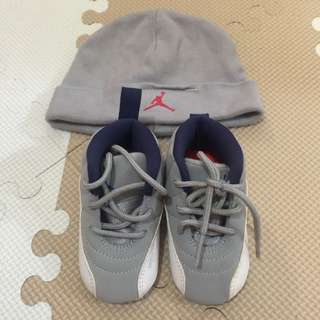 d4503f74640478 Original Jordan Baby Shoes and Beanie