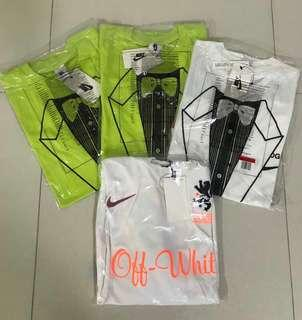 Nike x off white tee and jersey