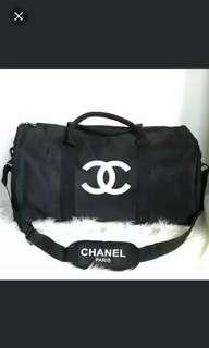 Authentic Chanel Gym Duffle bag with white Stitched logo VIP Gift