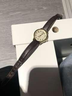 Timex leather strapped watch