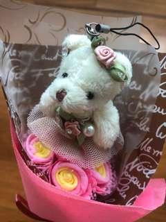 Bear hand bouquet flower
