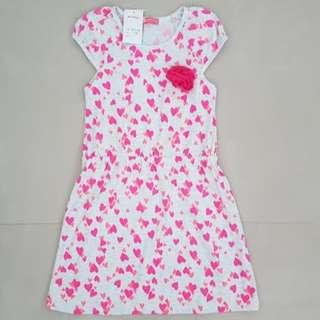 Cotton Hearts Dress Girls 10 years old