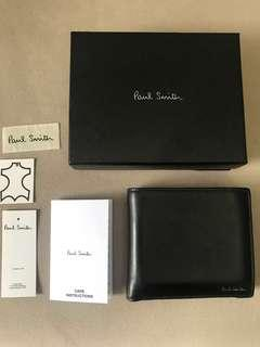 Paul Smith black leather wallet dompet kulit
