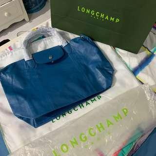 Longchamp le pliage cuir medium