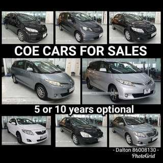 COE CARS FOR SALES