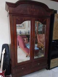 Antique cabinet with mirror