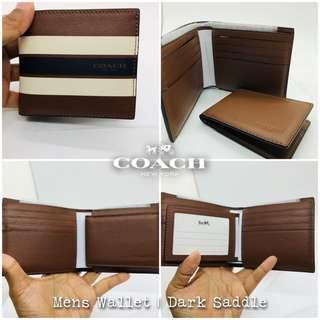 Coach Mens Compact Leather Wallet