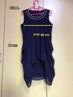 🚚 Navy blue Korean dress ( made in korea)