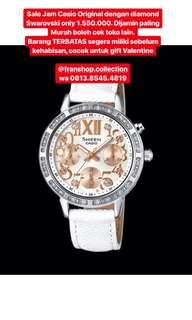 Sale Jam tangan casio original diamond Swarovski ada lampu LED