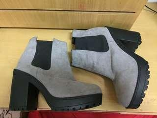 H&M ankle boots grey suede hnm divided