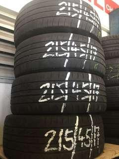 4 pcs used 215/45/17 tyre for sale