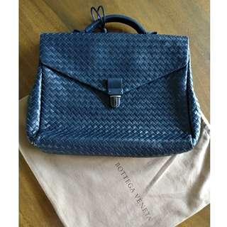 Bottega Veneta Nero Intrecciato Small Briefcase