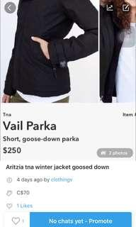 NOW $60 ARITZIA WINTER JACKET
