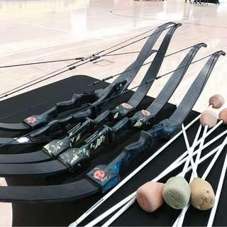 Archery Tag Bows and Arrows Rental