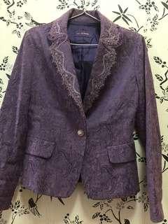 Blazer lace purple