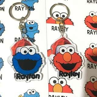Custom Personalised Keychain / Key Ring - Elmo