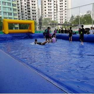 Water Soccer Inflatables Rental
