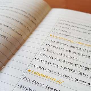 Handwritten Social Studies O level (sec 3-4) notes