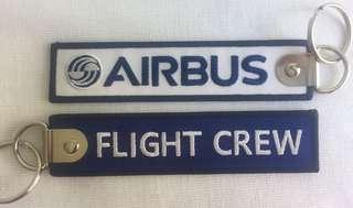 Airbus flight crew keychain