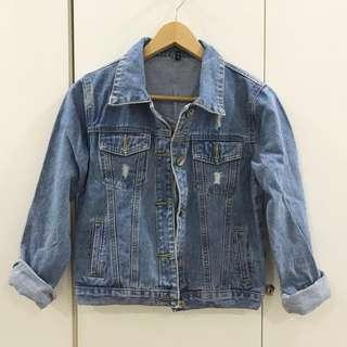 🆕ripped Denim Jacket #JAN50