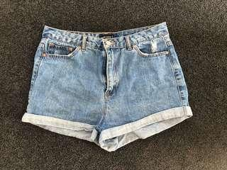 Blue Demin Shorts Glassons