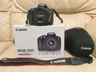 【價錢可議】Canon 750D單反相機連鏡 (行貨有盒)