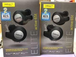 全新黑色行貨Jabra Elite Active 65T 真無線 True Wireless Headphone,跟單,香港Jabra代理2年保養(Compucon)