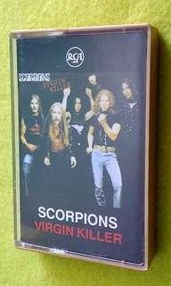 🚚 SCORPIONS . virgin killer . Cassette tape not vinyl record