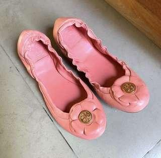 1000% ORI TORY BURCH FLAMINGO FLATS