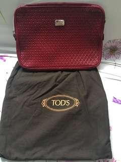 TODS 真皮clutch手包