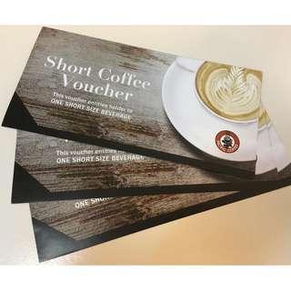 Pacific Coffee Short Coffee 兌換券