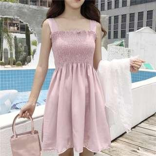 Korean Pink Babydoll Dress