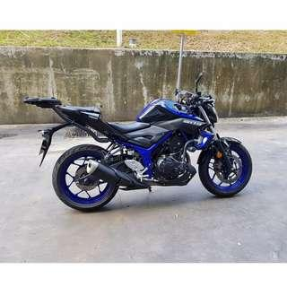 10 MONTH OLD YAMAHA MT-03 FOR SALE