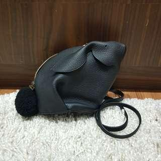 Bnwt LOEWE Black Bunny Mini Bag - 100% authentic
