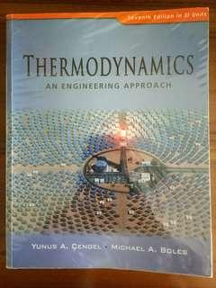 Thermodynamics An Engineering Approach (7th edition) by Yunus A Cengel and Michael A Boles with CD