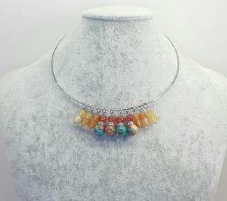 Marjani Orange Torque Choker Necklace