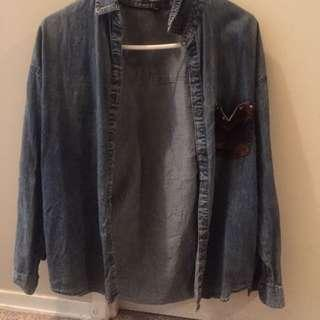 Army Jean Jacket from Forever 21