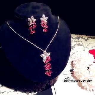 Pre order earrings& necklace set(2件套)
