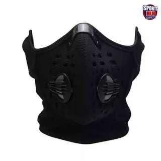 🚚 Anti Dust Pollution Half Face Ski Snowboard Mask & Neck, Ear Warmer with Active Carbon Filters